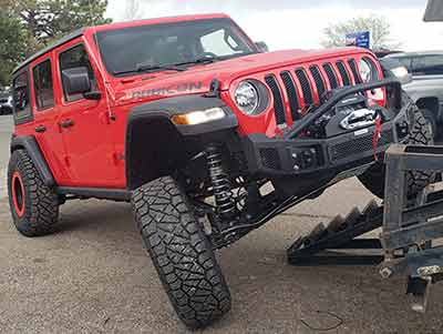 Lifted 2019 Jeep Jl off road shop built