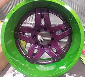 Powder Coat - custom wheel
