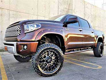 lift kit on a Toyota Tundra